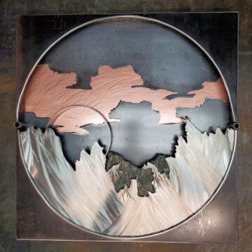 Tabletop Steel Sculpture