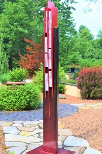 Steel and Aluminum Red Sculpture